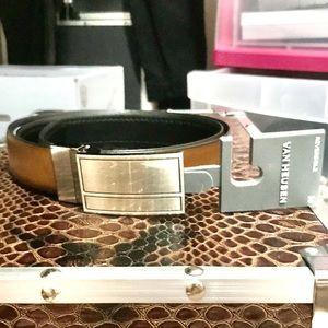 Reversible belt brown & black